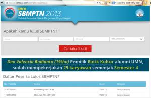 SBMPTN Kompas.com